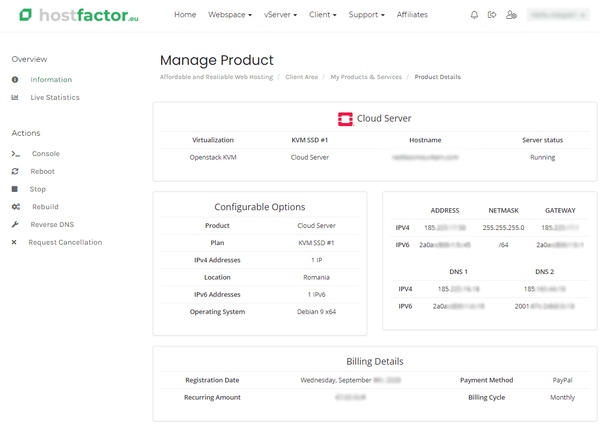 hostfactor.eu cloud web hosting, vps hosting, ssd virtual server, linux vps, dedicated server, ssd server, unlimited hosting, cpanel web hosting, managed dedicated servers, unmanaged dedicated servers, cheap vps, cheap hosting, affordable hosting